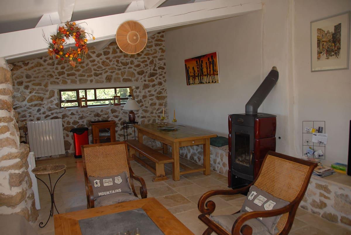 Petite Gipière's living room